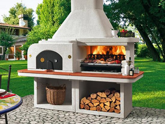 arredare il giardino con il barbecue. Black Bedroom Furniture Sets. Home Design Ideas